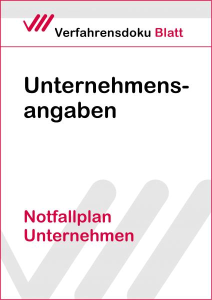 Notfallplan Unternehmen