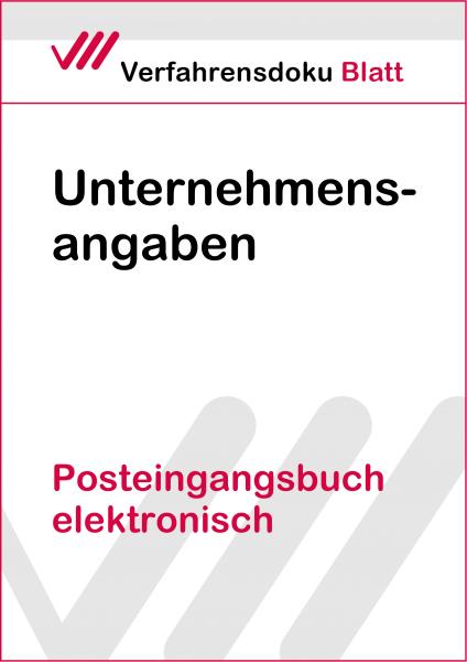 Posteingangsbuch elektronisch