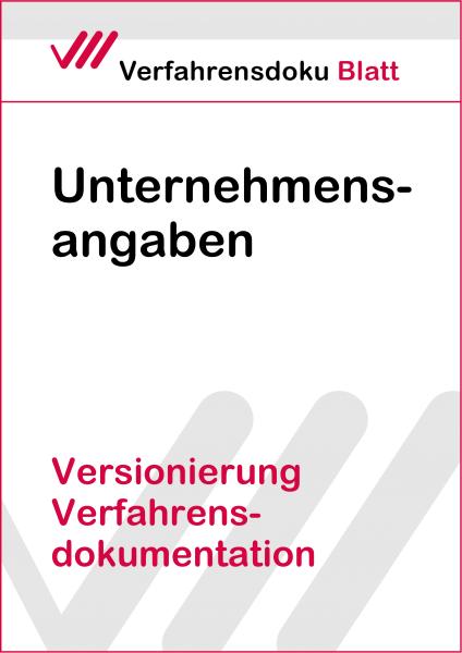 Versionierung Verfahrensdokumentation