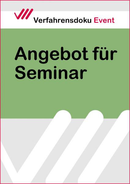 Angebot für Seminar