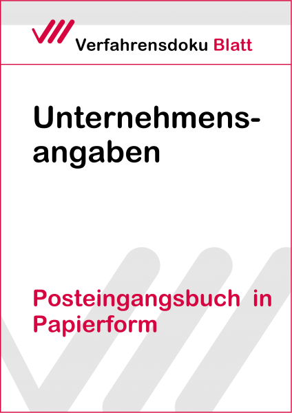 Posteingangsbuch in Papierform