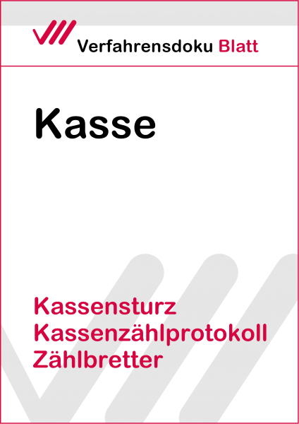 Kassensturz, Kassenzählprotokoll , Zählbretter